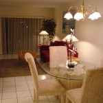 Dining area in 1-bed